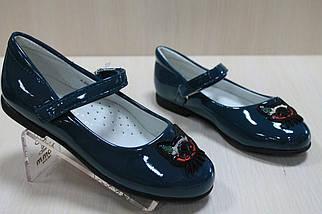 Лакированные туфли цвет изумруд на девочку тм Том.м р.27,28,31, фото 2