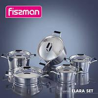 5823 Набор посуду ELARA 10 пр. з сталевими кришками (нерж. сталь)