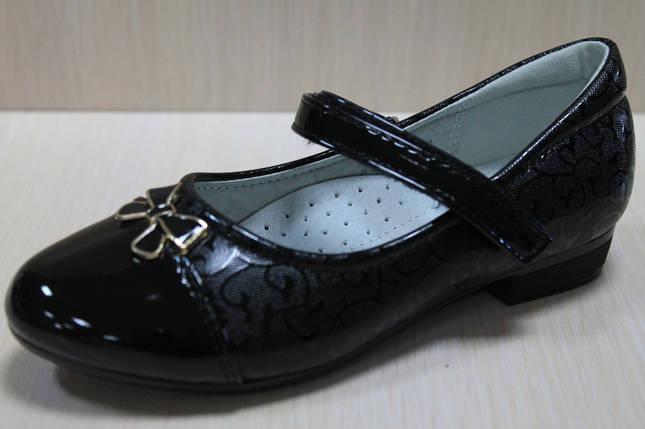Лаковые черные туфли для девочки р. 28,32, фото 2