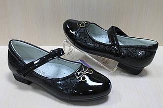 Лаковые черные туфли для девочки р. 28,32, фото 3