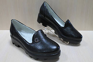 Подростковые черные туфли на тракторной подошве на девочку тм Том.м р. 32,36, фото 2