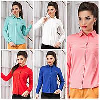 Рубашка женская с длинным рукавом на пуговицах р. S-XL