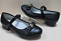 Подростковые черные туфли на девочку на каблуке тм Том.м р. 35