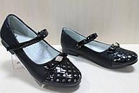 Подростковые черные туфли на девочку лакированный носок коллекция тм Том.м р.34,35,36,37