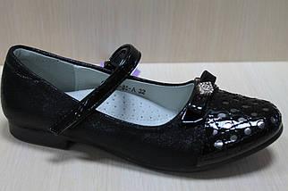 Подростковые черные туфли на девочку лакированный носок коллекция тм Том.м р.35,36, фото 2