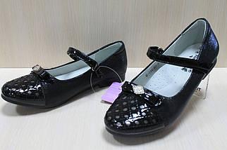 Подростковые черные туфли на девочку лакированный носок коллекция тм Том.м р.35,36, фото 3