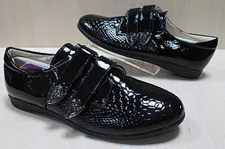 Закрытые лаковые черные туфли на девочку тм Тom.m р.36,37, фото 2