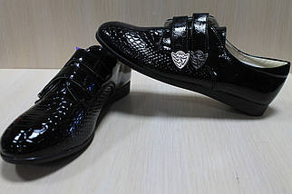 Закрытые лаковые черные туфли на девочку тм Тom.m р.36,37, фото 3