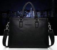 Мужская сумка Moleadon. Размер 35-26,5-6 см.Черная.