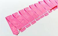 Лента гимнастическая C-3248-F  розовая