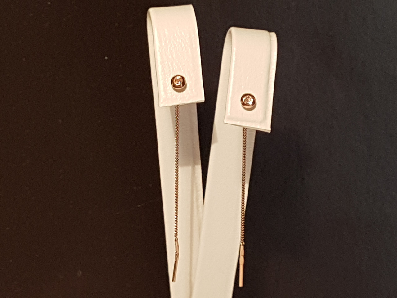 Золотые серьги-протяжки. Артикул 104980