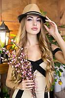 Соломенная шляпа-федора «Барбара»