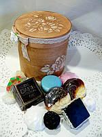 """Набор сувенирного мыла """"Изысканный десерт""""(из восьми кусочков мыла)"""