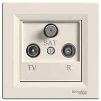 TV-R-SAT розетка проходная (4 dB) Asfora крем, EPH3500223