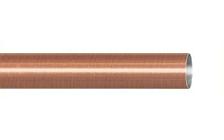Труба гладкая 1,6 м. для кованого карниза 16 мм античная медь