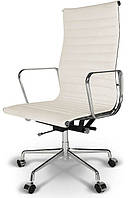 Кресло офисное Алабама Н белая точная копия дизайнерского кресла Ribbed EA 119 от Charles and Ray Eames