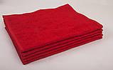 Полотенце махровое 40х70см Красный 420гр Lotus, фото 2