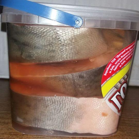 Горбуша стейки в рассоле с маслом в ВЕДЕРКЕ 1 КГ