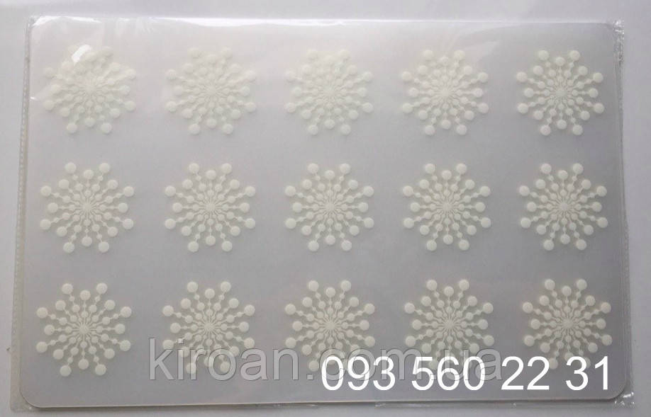 Подставка под горячее черно-белая (пластик) 12 шт