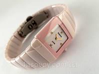 Женские керамические часы  high-tech , розовые, не царапаются, фото 1