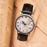 Часы мужские кварцевые Geography (черные)