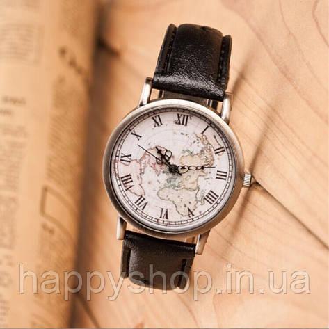 Часы мужские кварцевые Geography (черные), фото 2