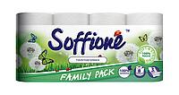 Трехслойная туалетная бумага Soffione 8 рулонов