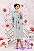 Классическое женское пальто  цвета бирюза  (р. 44-54) арт. 983 Тон 2