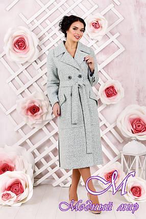 Классическое женское пальто  цвета бирюза  (р. 44-54) арт. 983 Тон 2, фото 2