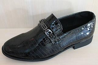 Туфли лаковые подростковые на мальчика р. 35, фото 3