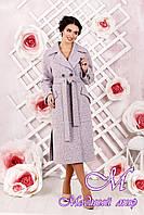Классическое женское пальто розового цвета  (р. 44-54) арт. 983 Тон 4
