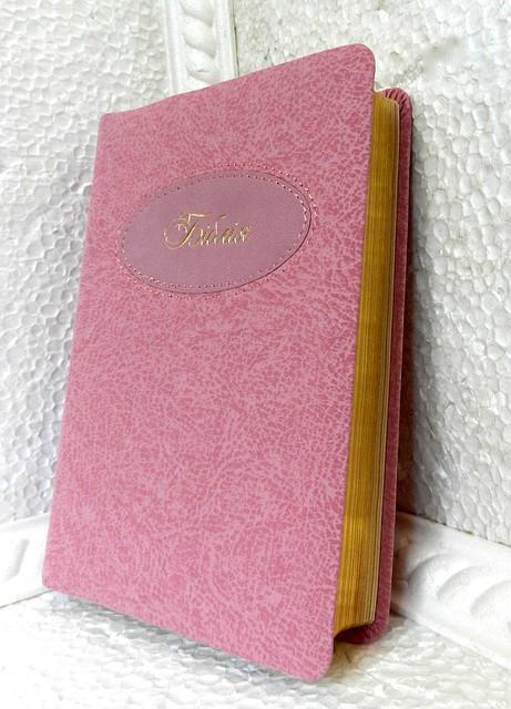Біблія, 12,5х17,5 см, рожева