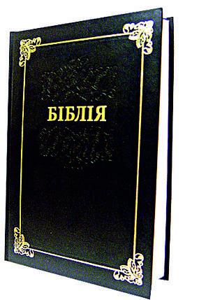 Біблія, 16х24 см, коричнева у твердій обкладинці, фото 2
