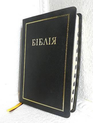 Біблія, 16,5х24,5 см, чорна/темно-вишнева з рамкою, фото 2