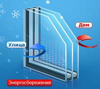Стеклопакеты двухкамерные с энергосбережением