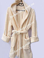 Махровый халат до колена для женщин 1877
