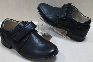 Черные туфли на мальчиков на липучке тм Том.м р. 27,28,29,30, фото 2