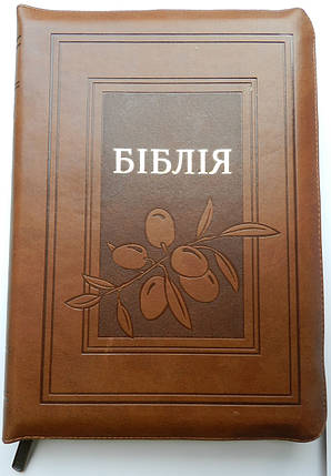 Біблія, 17х24,5 см, коричнева з оливкою, фото 2