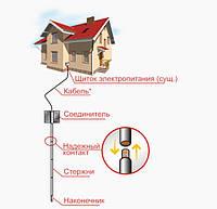 Комплект нержавеющего заземления в частном доме ZUVER 4.4