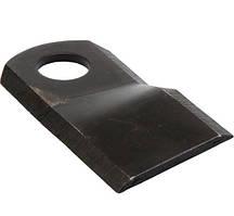 Нож роторной косилки BALMET правый 105x47x4Ø20.5 Krone K6802980