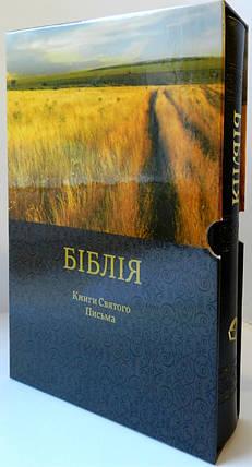 Подарункова Біблія, Книги Святого Письма, у картонному футлярі 17,5х24,5 см, чорна, з тисненням, фото 2
