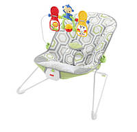 Fisher-Price Детский шезлонг кресло-качалка Геометрия Baby's Bouncer Geo Meadow