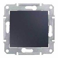 Выключатель одноклавишный, Sedna графит, SDN0100170