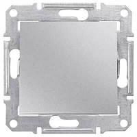 Выключатель одноклавишный, Sedna алюминий, SDN0100160