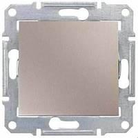 Выключатель одноклавишный двухполюсный, Sedna титан, SDN0200168