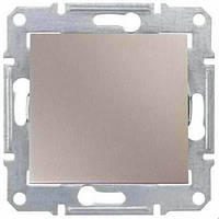 Выключатель одноклавишный двухполюсный, титан,16А SDN0200268