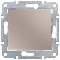 Выключатель одноклавишный проходной (переключатель) 10 A серии Sedna. Цвет Титан SDN0400168