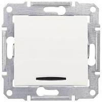 Одноклавишный выключатель с индикацией 10A серии Sedna. Цвет Слоновая кость SDN0400323