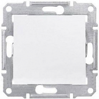 Одноклавишный переключатель 10A IP44 серии Sedna. Цвет Белый SDN0400521