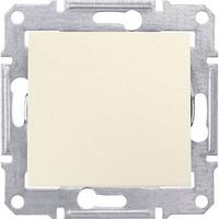Одноклавишный двухполюсный переключатель 16A серии Sedna. Цвет Слоновая кость SDN0400423